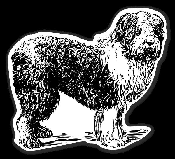 hunde sheepdog klistermærker etiketter stickers