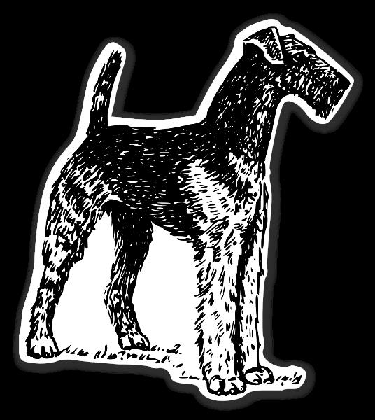 Airedale hunde stickers etiketter klistermærker