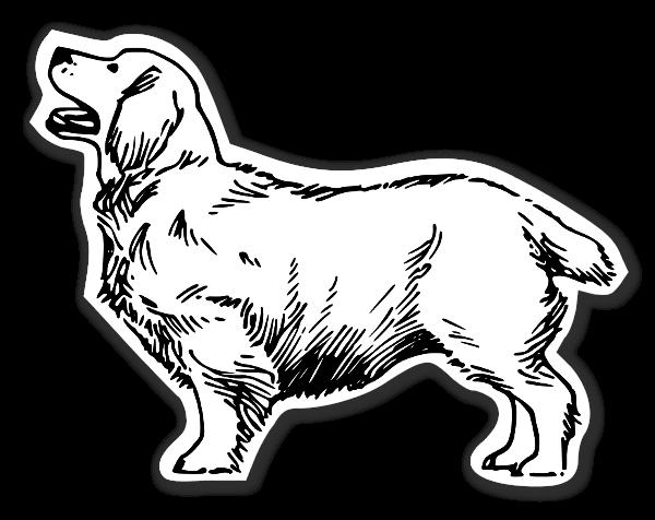 Clumber hund Klistremerker
