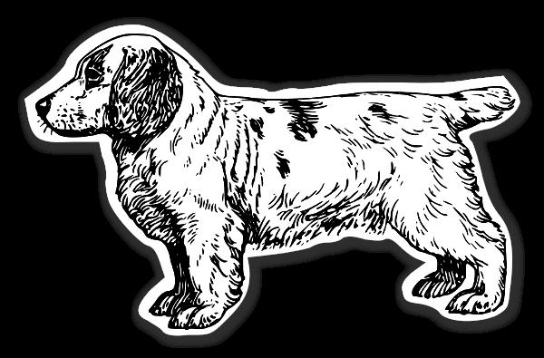Lille spaniel hunde stickers etiketter klistermærker