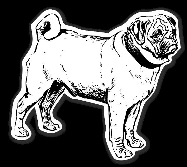 Mastiff hunde stickers etiketter klistermærker  decals