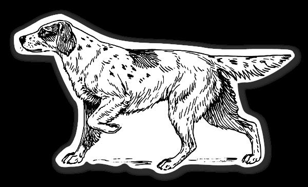 Setter hunde stickers etiketter klistermærker