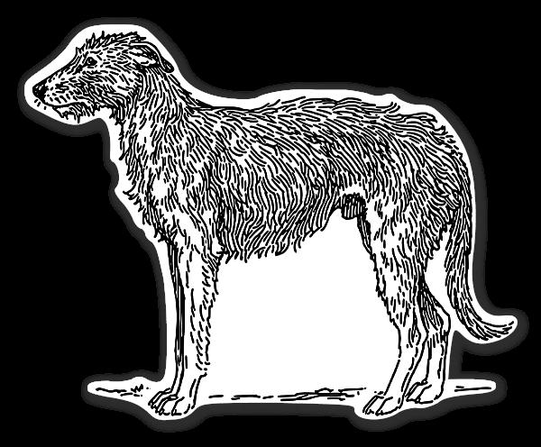 Scottish ulvehund stickers etiketter klistermærker decals