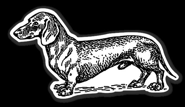 gravhunde klistermærker etiketter stickers