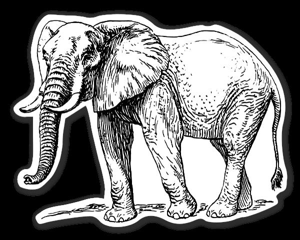 Elefant dekaler sticker