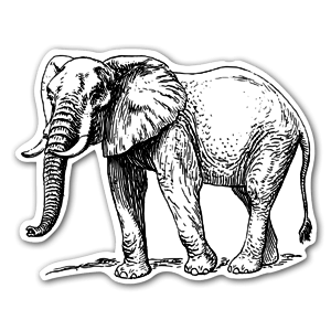 Elefant dekaler sticker