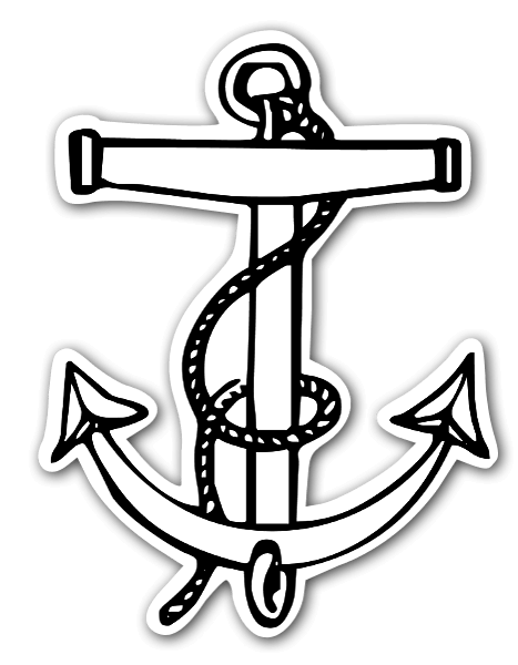 The anchor with the rope sticker