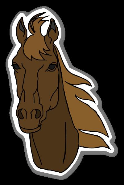 Häst Klistermärken Brun sticker