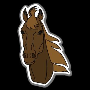 Cartoon Pferd Aufkleber
