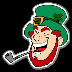 Klistermärken Skrattande irländskt troll  sticker