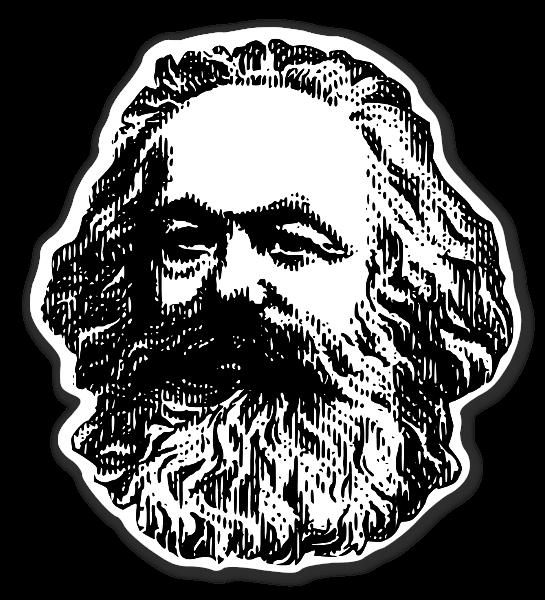 Karl Marx  klistermærker stickers decals etiketter