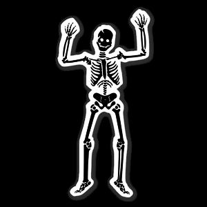 Skelett Aufkleber