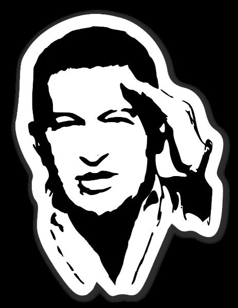 Hugo Chavez klistermærker stickers decals etiketter