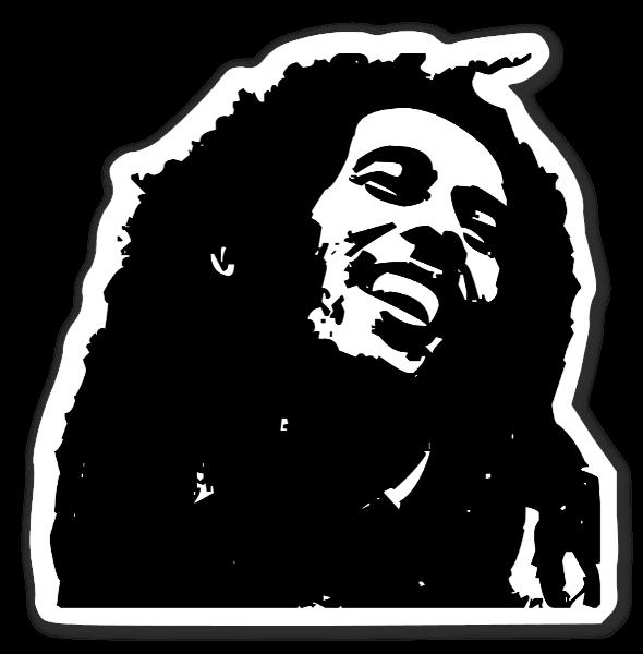 Bob Marley klistermærke