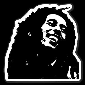Bob Marley Klistermärke sticker