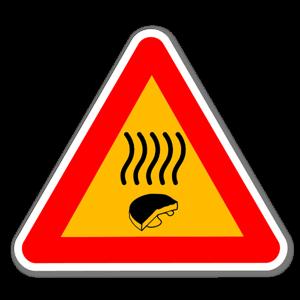 Klistermärke med varning för gammal ost sticker