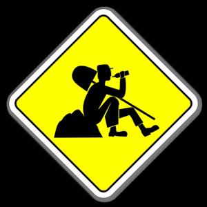 Klistermärke med arbetande man sticker