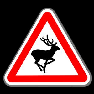 Dekal med varning för hjort sticker