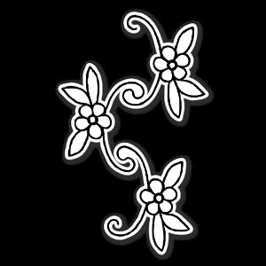 Trois fleurs sticker