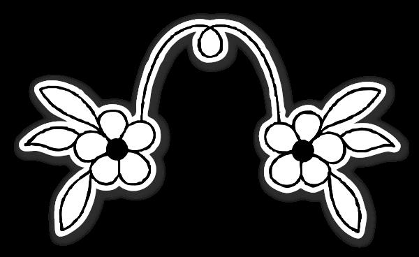 To simple blomster klistermærker