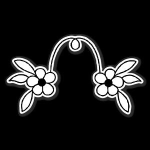 fleur arche sticker