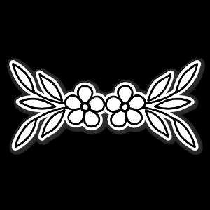 Fleurs jumelles sticker