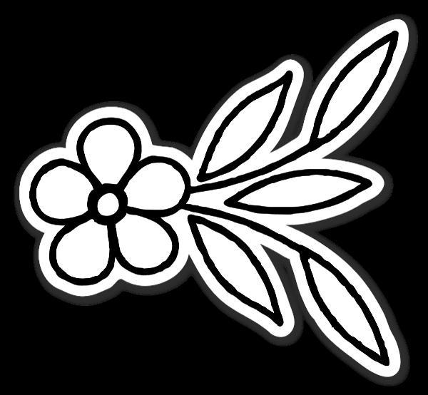 fin Blomster klistermærker