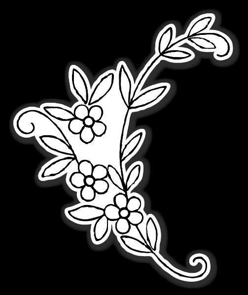 simple klistermærker blomster