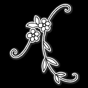 Simple flower ornament  sticker