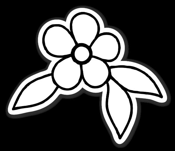 Hvid blomst klistermærker