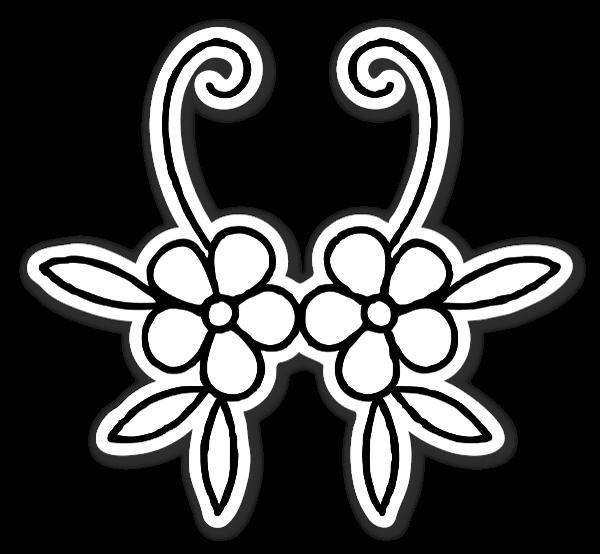 Fina Blomster klistermærker