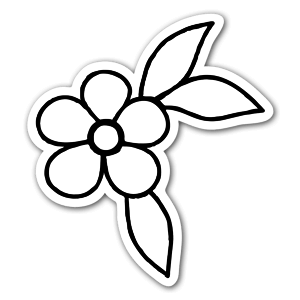 Flower ornament  sticker