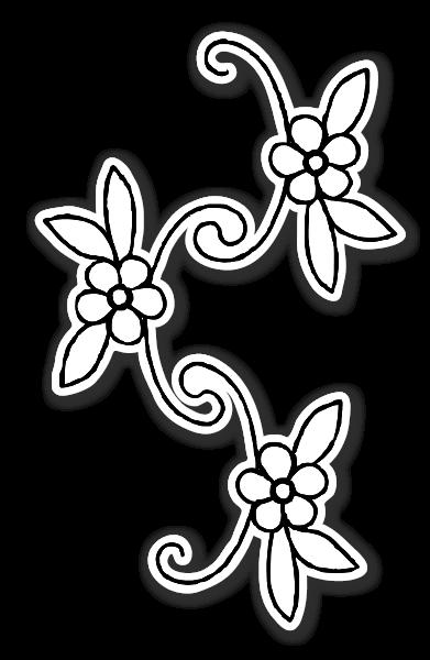 Blomster klistermærker