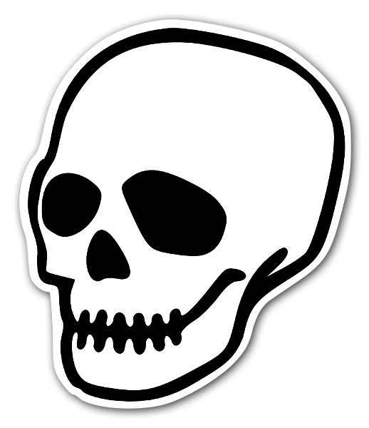 Totenkopf Aufkleber