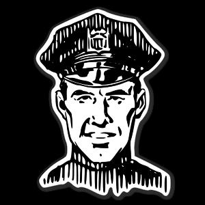 Amerikansk polis sticker