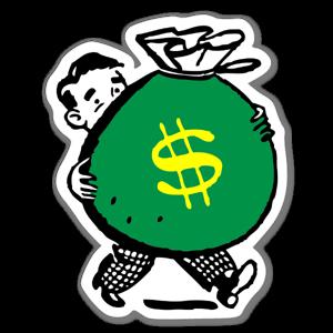 Sac d'argent sticker