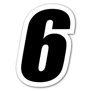 Racing Nummer 6 sticker