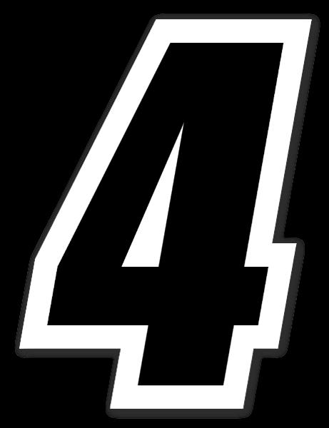 Racing Nummer 4 sticker