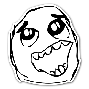Rage face  sticker