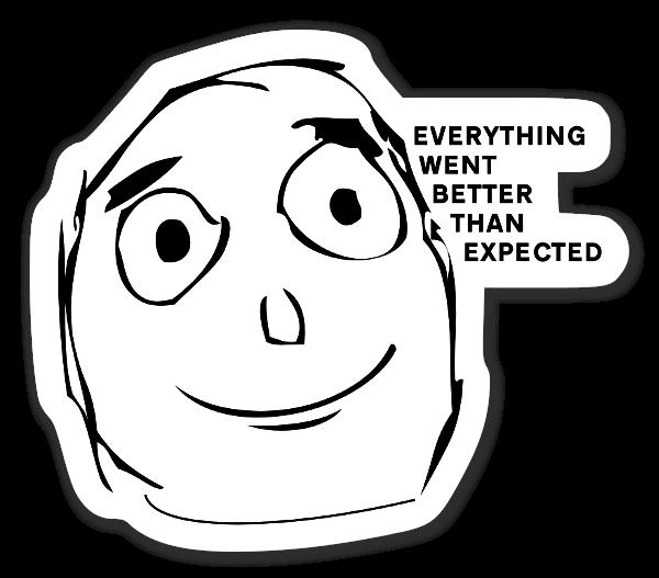 Satisfied Meme sticker