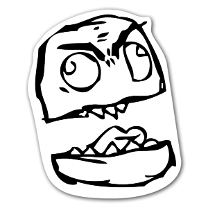 Half face  sticker