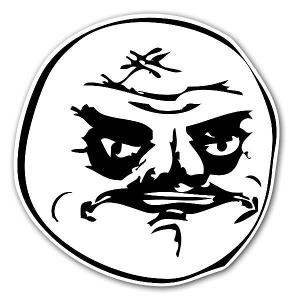 Memes angry face sticker