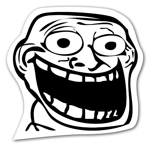 Memes Happy rage face stickers - StickerApp