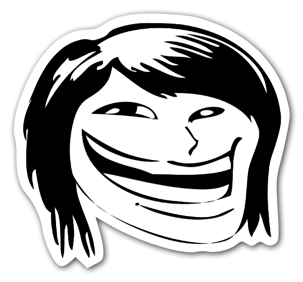 Fap Fap Schlick Chic Rage Face Sticker