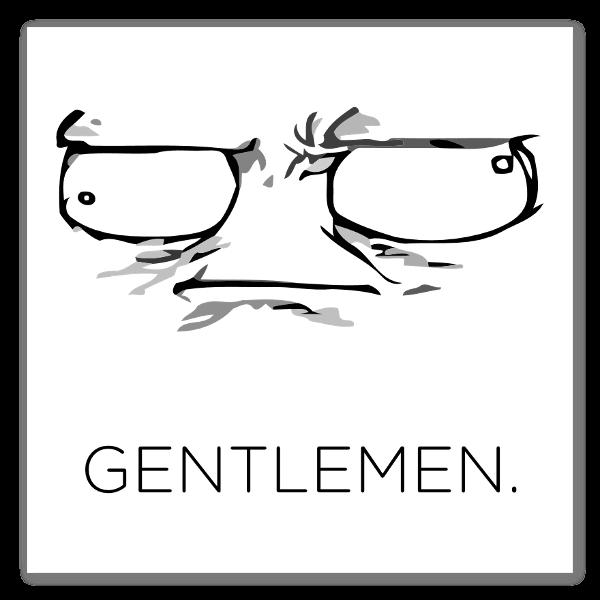 Meme Gentlemen Aufkleber