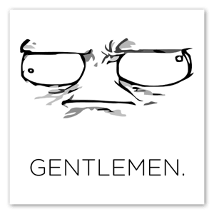 Gentlemen sticker