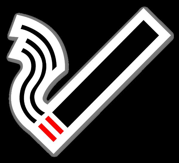 Cigarett symbol sticker