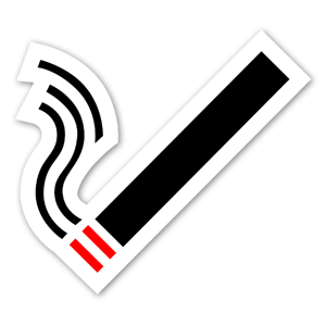 Cigarett symbol sticker