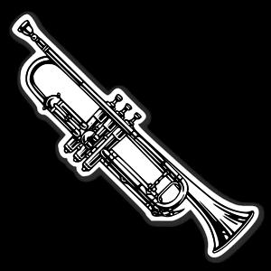 Cornet trumpet sticker