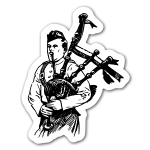 The bagpipe  sticker